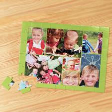 Puzzle photo personnalisé pomme verte 7 collage 30,48 x 41,91 cm