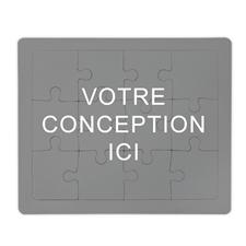 Puzzle personnalisé avec cadre, horizontal
