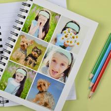 Créez votre propre carnet blanc six collages