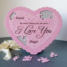 Puzzle en forme de coeur personnalisé chéri