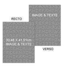 Puzzle photo portrait recto-verso personnalisés 30,48 x 41,91 cm