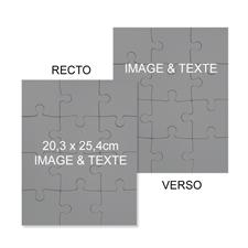 Puzzle 2 côtés personnalisés
