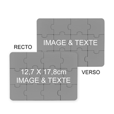 Invitation puzzle recto-verso personnalisés 12,7 x 17,78 cm