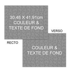 Puzzle photo recto-verso couleur & texte de fond personnalisés, 285 ou 54 pièces, 30,48 x 41,91 cm
