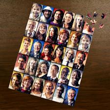 Puzzle photo Facebook noir 30 collage 30,48 x 41,91 cm