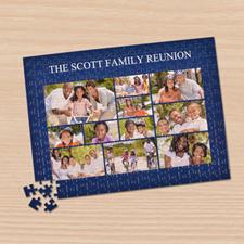 Puzzle photo Facebook bleu marine 11 collage 30,48 x 41,91 cm