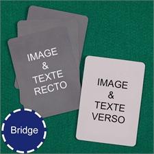 Cartes à jouer format Bridge personnalisées (cartes vierges)