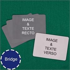 Cartes à jouer format Bridge personnalisées paysage (cartes vierges)
