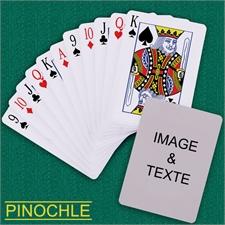 Cartes à jouer poker Pinochle personnsalisées