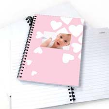 Créez votre propre carnet nous coeur bébé fille