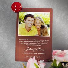 Aimants de frigo photo annonce de mariage personnalisés chocolat