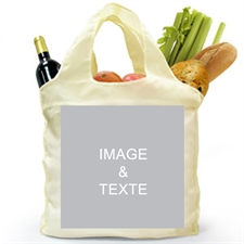 Sac shopping plié personnalisé 2 côtés, image carrée