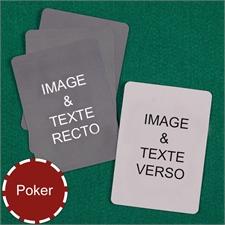 Cartes à jouer poker personnalisées (cartes vierges)