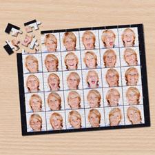 Puzzle collage trente Instagram noir 12 ou 50 ou 100 pièces
