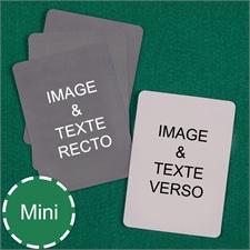 Cartes à jouer format mini personnalisées