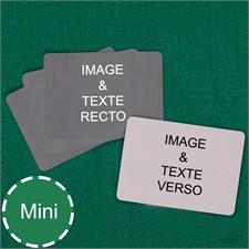 Cartes à jouer format mini personnalisées paysage