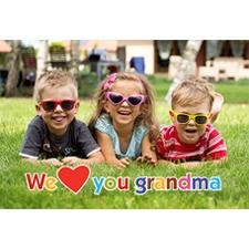 Carte photo 3D fête des mères coeurs mamie