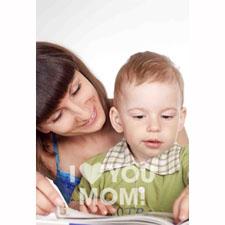 Carte d'invitation animée personnalisée Joyeuse fête des mères simplicité (10,16 x 15,24 cm)