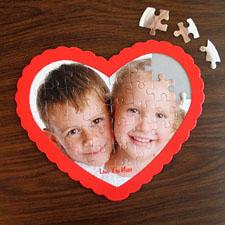 Puzzle en forme de coeur personnalisé nous coeur mamie