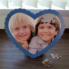 Puzzle en forme de coeur personnalisé nous coeur papie
