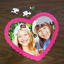 Puzzle en forme de coeur personnalisé Joyeux anniversaire