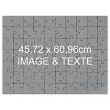 Puzzle jumbo message personnalisé 70 ou 252 ou 500 pièces 45,72 x 60,96 cm