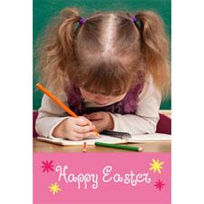 Carte photo animée Joyeuse Pâques Carte d'invitation animée personnalisée (10,16 x 15,24 cm)