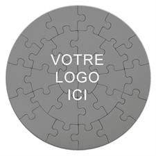 Petits puzzles larges ronds impression personnalisée 26 pièces