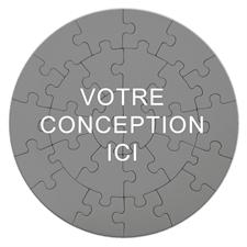 Puzzle rond 18,41 cm 26 pièces Imprimez votre conception (pièces larges)