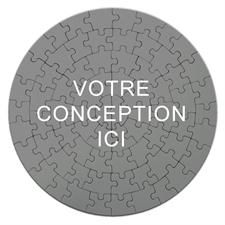 Puzzle rond 18,41 cm 72 pièces Imprimez votre conception