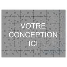 Puzzle Imprimez votre conception 70 ou 252 ou 500 pièces 45,72 x 60,96 cm