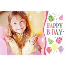 Carte de voeux personnalisée lenticulaire fille joyeux anniversaire