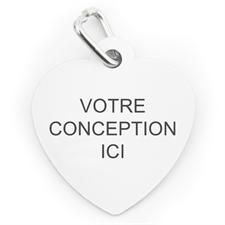 Médaille pour chien ou chat personnalisée coeur (1 côté personnalisé)