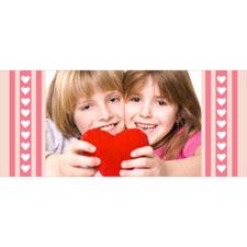 Separador lenticular personalizable con fotografía y diseño de corazones