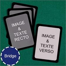 Cartes à jouer format Bridge personnalisées (cartes vierges) bordure noire