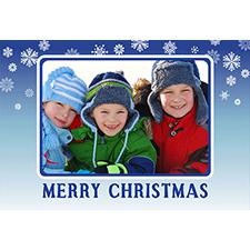 Carte de voeux personnalisée lenticulaire bleue Noël