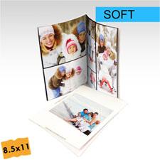 Créez votre petit album photo portrait  personnalisé couverture souple 21,59 x 27,94 cm