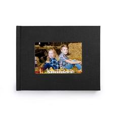 Créez votre petit album photo couverture rigide en lin noir 21,59 x 27,94 cm