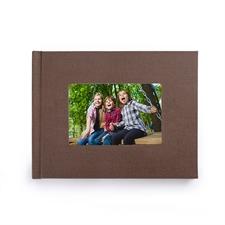 Créez votre petit album photo couverture rigide en lin brun 21,59 x 27,94 cm