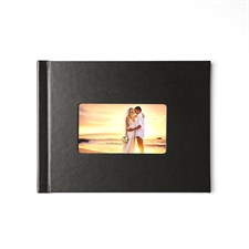 Créez votre petit album photo couverture rigide en cuir noir 21,59 x 27,94 cm