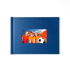 Créez votre petit album photo couverture rigide en cuir bleu 21,59 x 27,94 cm