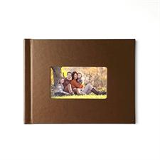 Créez votre petit album photo couverture rigide en cuir brun 21,59 x 27,94 cm