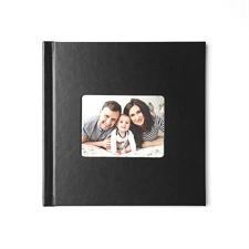 Concevez votre album photo couverture rigide en cuir noir 20,32 x 20,32 cm