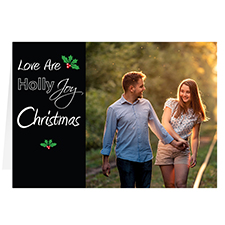 Carte de voeux de Noël personnalisée l'amour est une joie sacrée