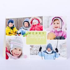 Carte de Noël photo personnalisée harmonie d'hiver
