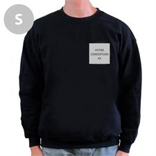 Créez votre propre sweat-shirt noir avec logo imprimé, S