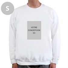 Sweat-shirt personnalisé blanc image portrait personnalisée, S