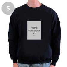 Sweat-shirt personnalisé noir image portrait personnalisée, S