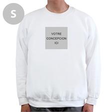 Créez votre propre sweat-shirt blanc S image & texte dessous
