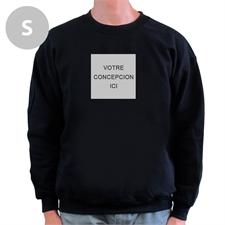 Créez votre propre sweat-shirt noir S image & texte dessous